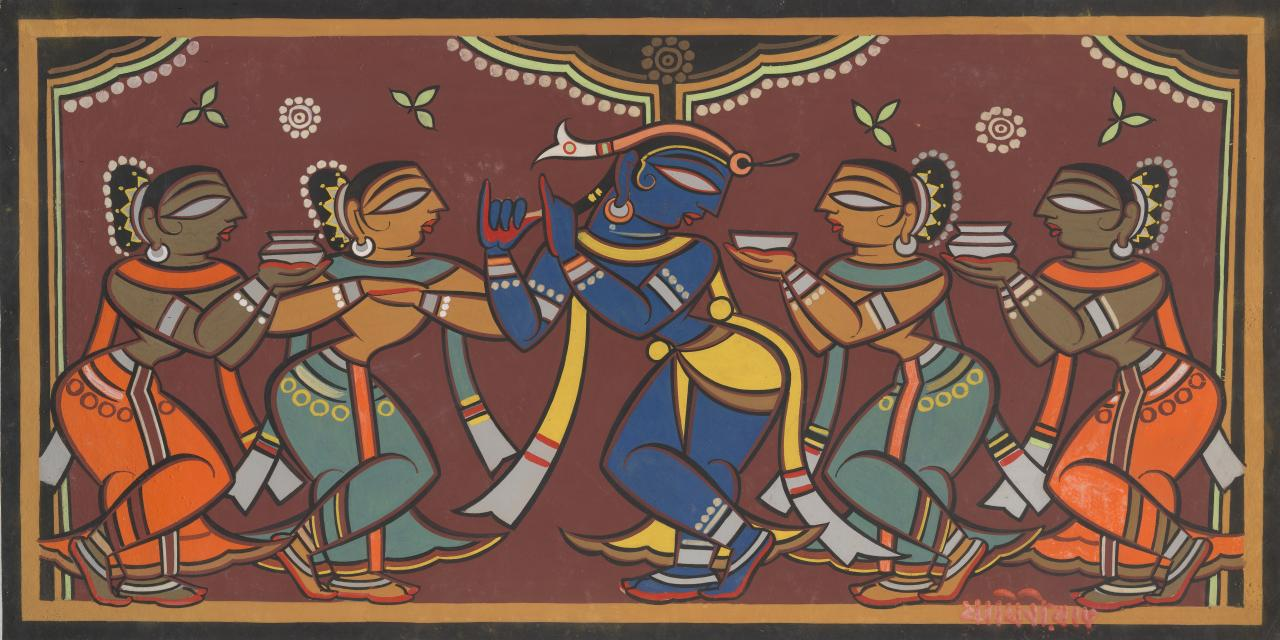 Krishna and the gopis