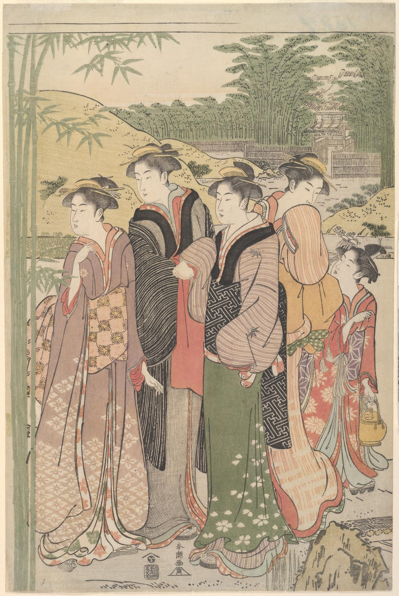 Parody of the seven sages of the bamboo grove