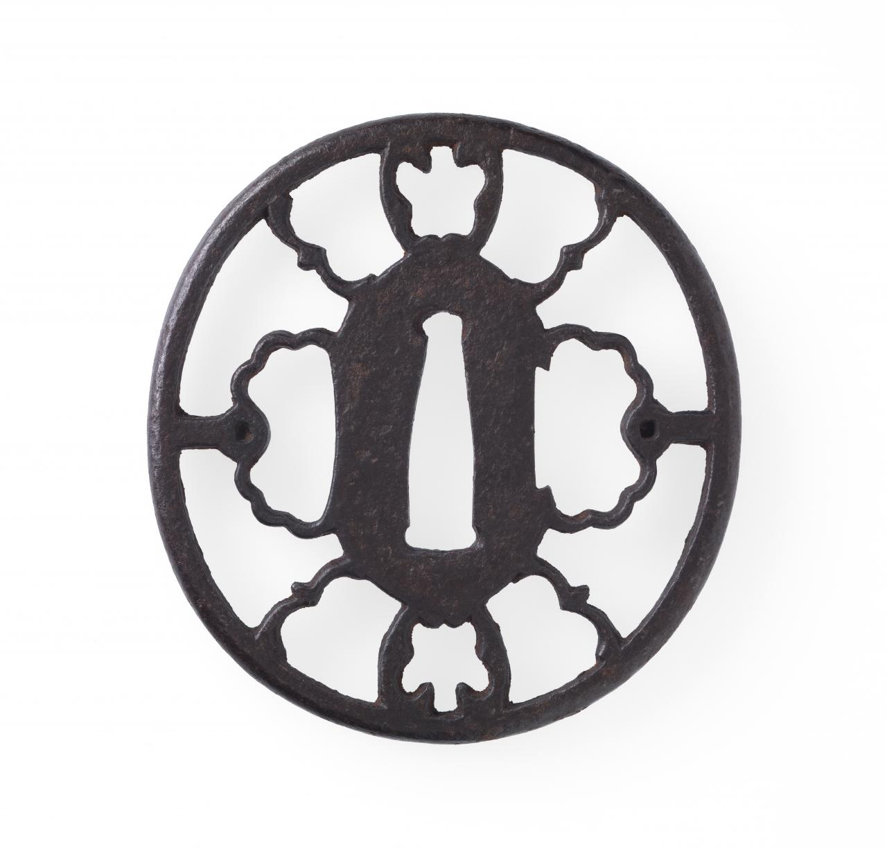 Sword guard with flying plover design
