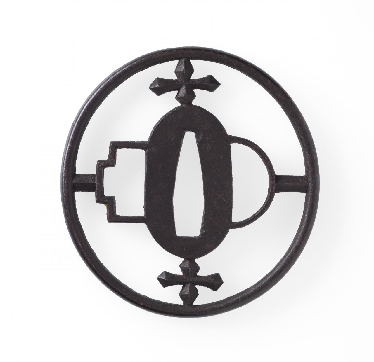 Sword guard with cross design