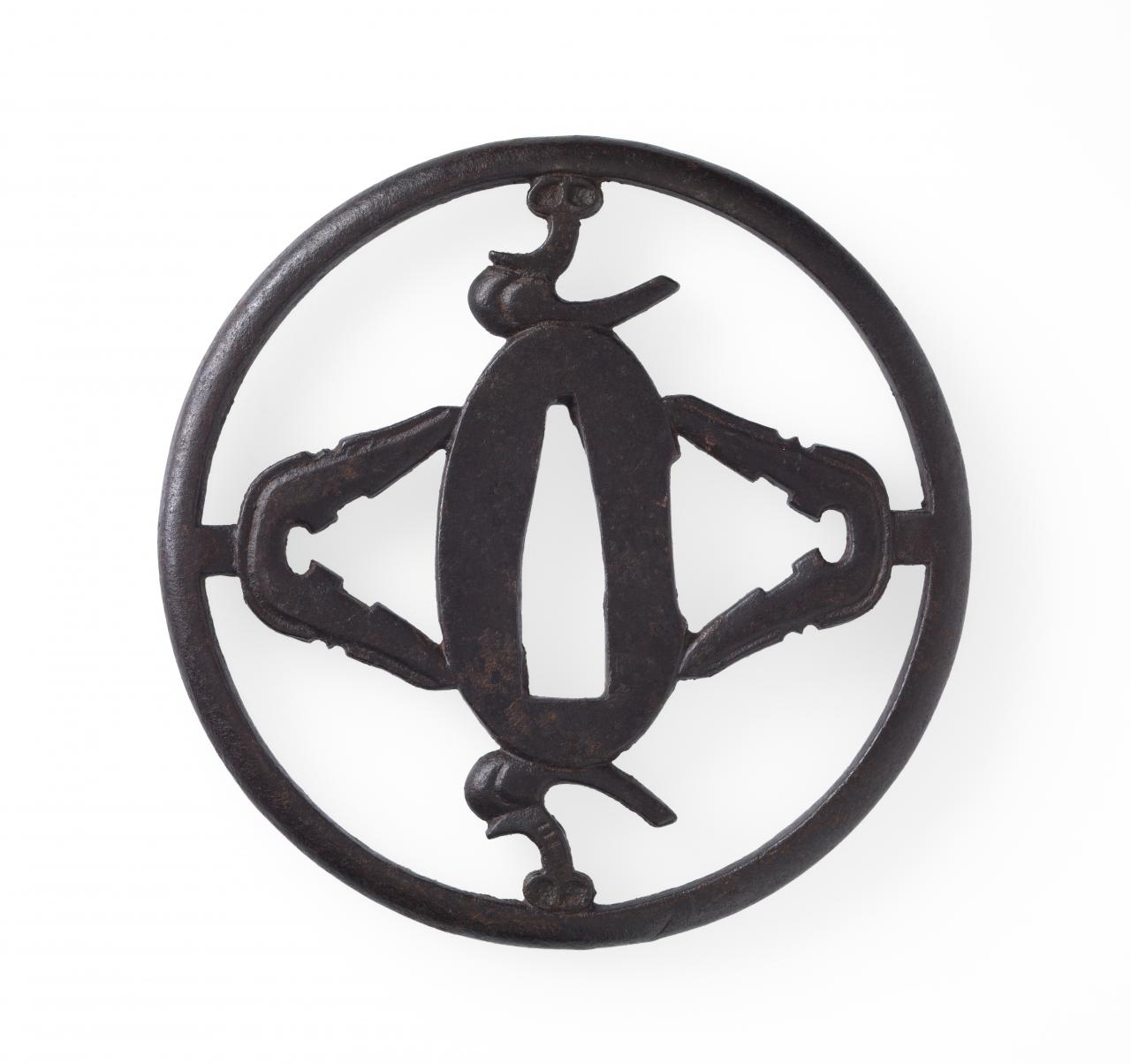 Sword guard with saddle and stirrup design