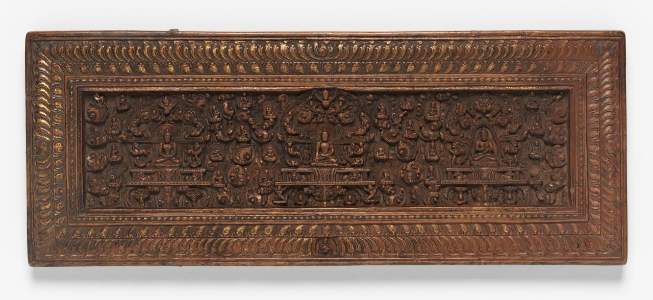 Cover for a Buddhist manuscript