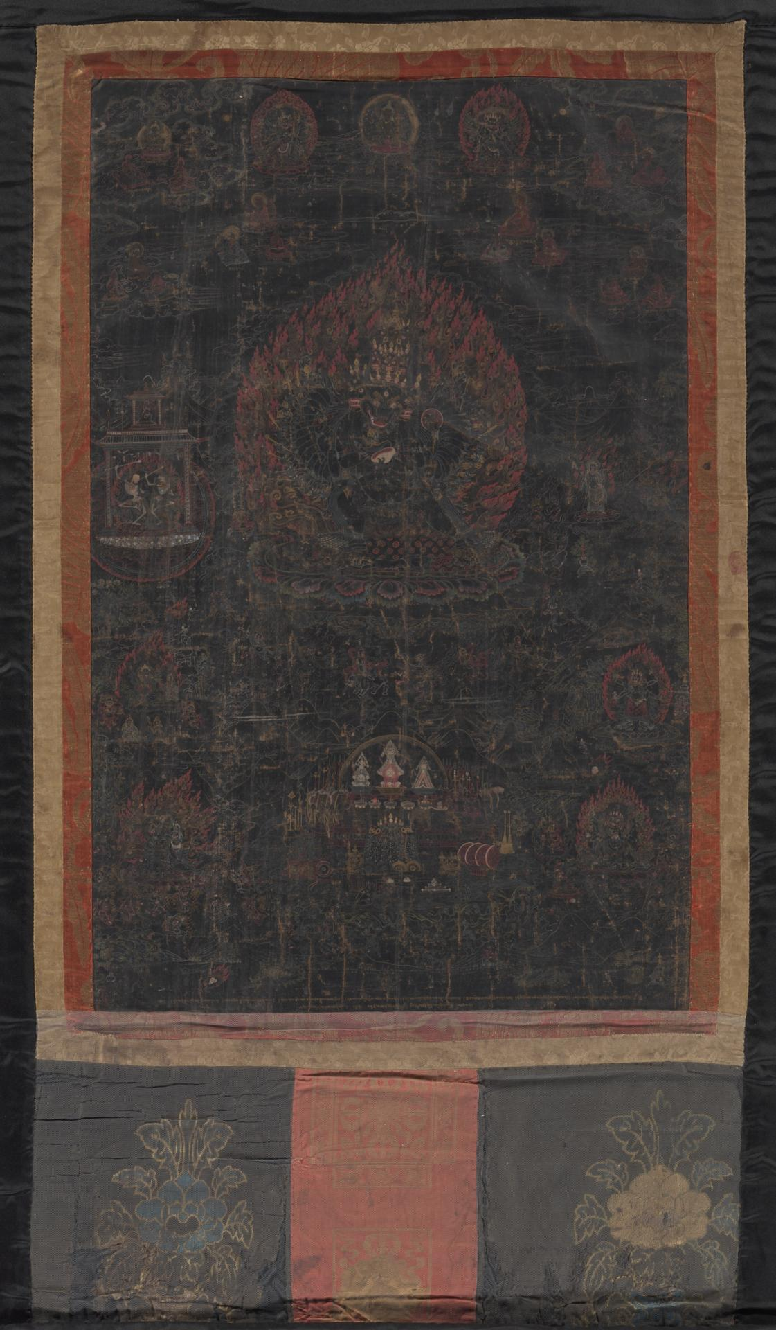 Thangka depicting Vajrabhairava / Yamantaka