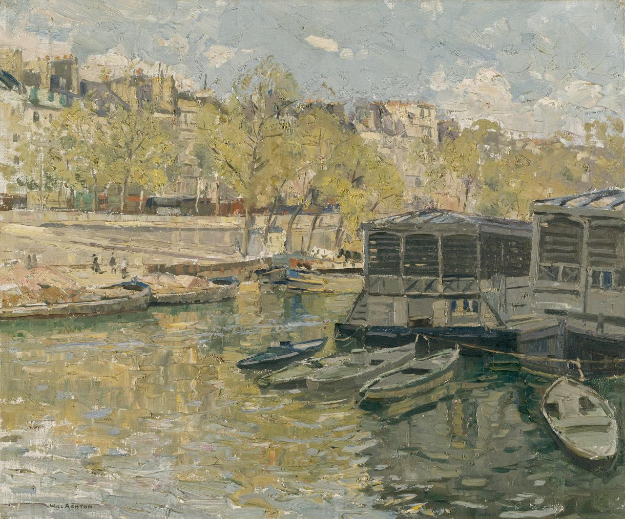 Laundry boats on the Seine