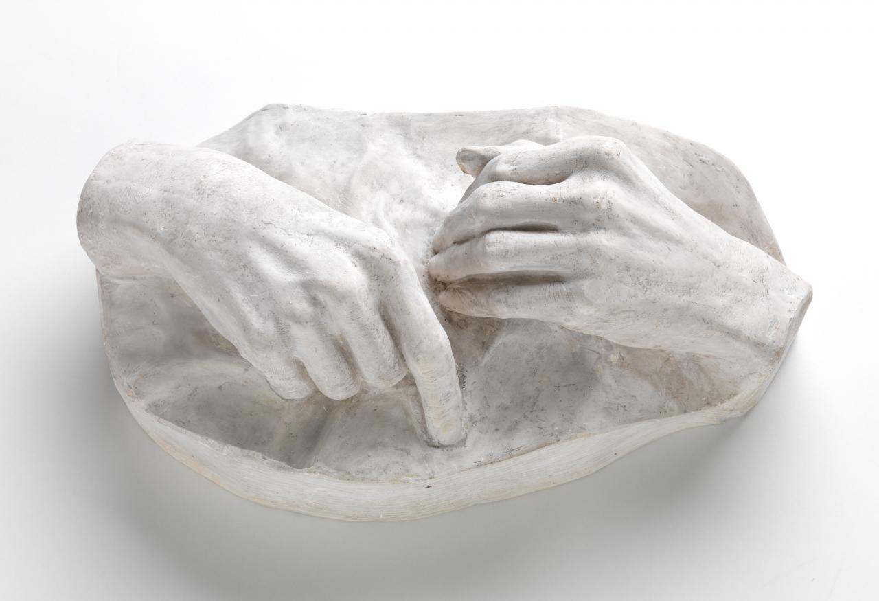 Cast of artist's hands