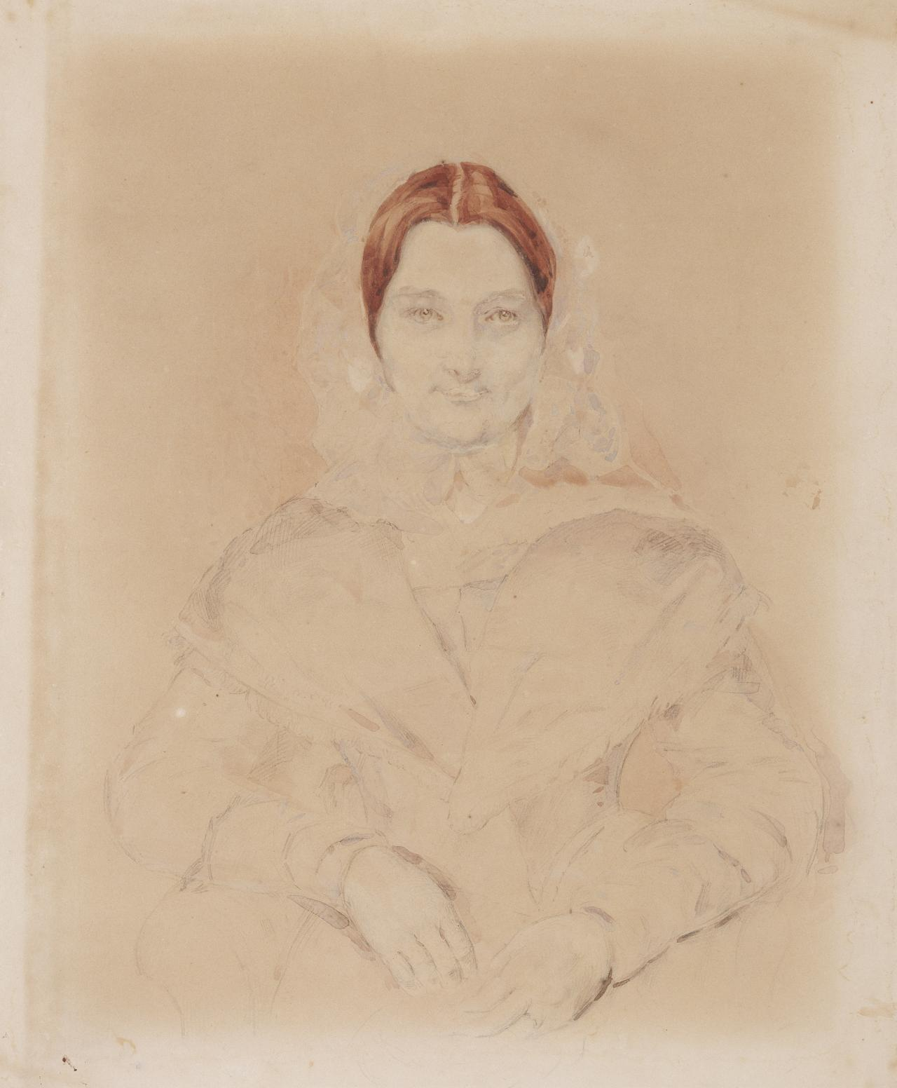 Untitled (Three quarter portrait of a lady in 19th century costume) (No. 31)