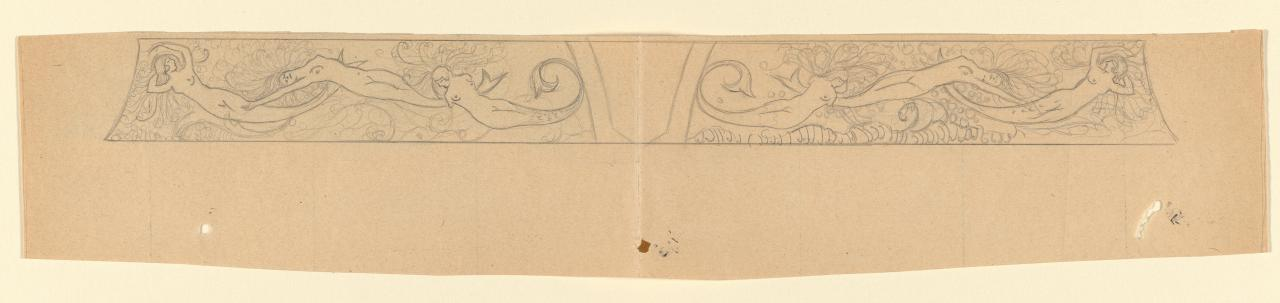 Design for the sides of a casket