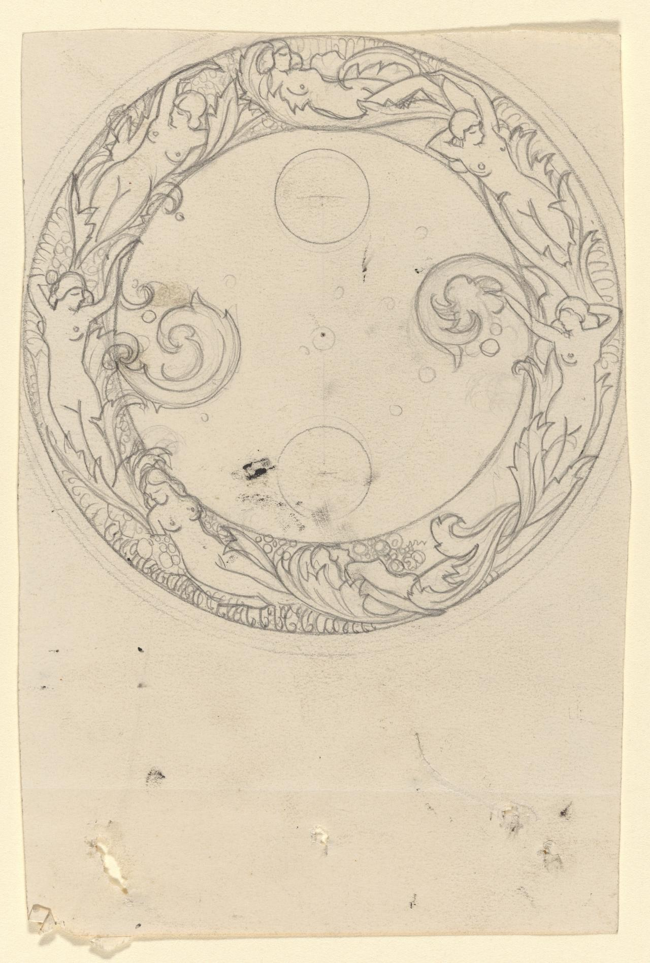 Design for the cover of a casket