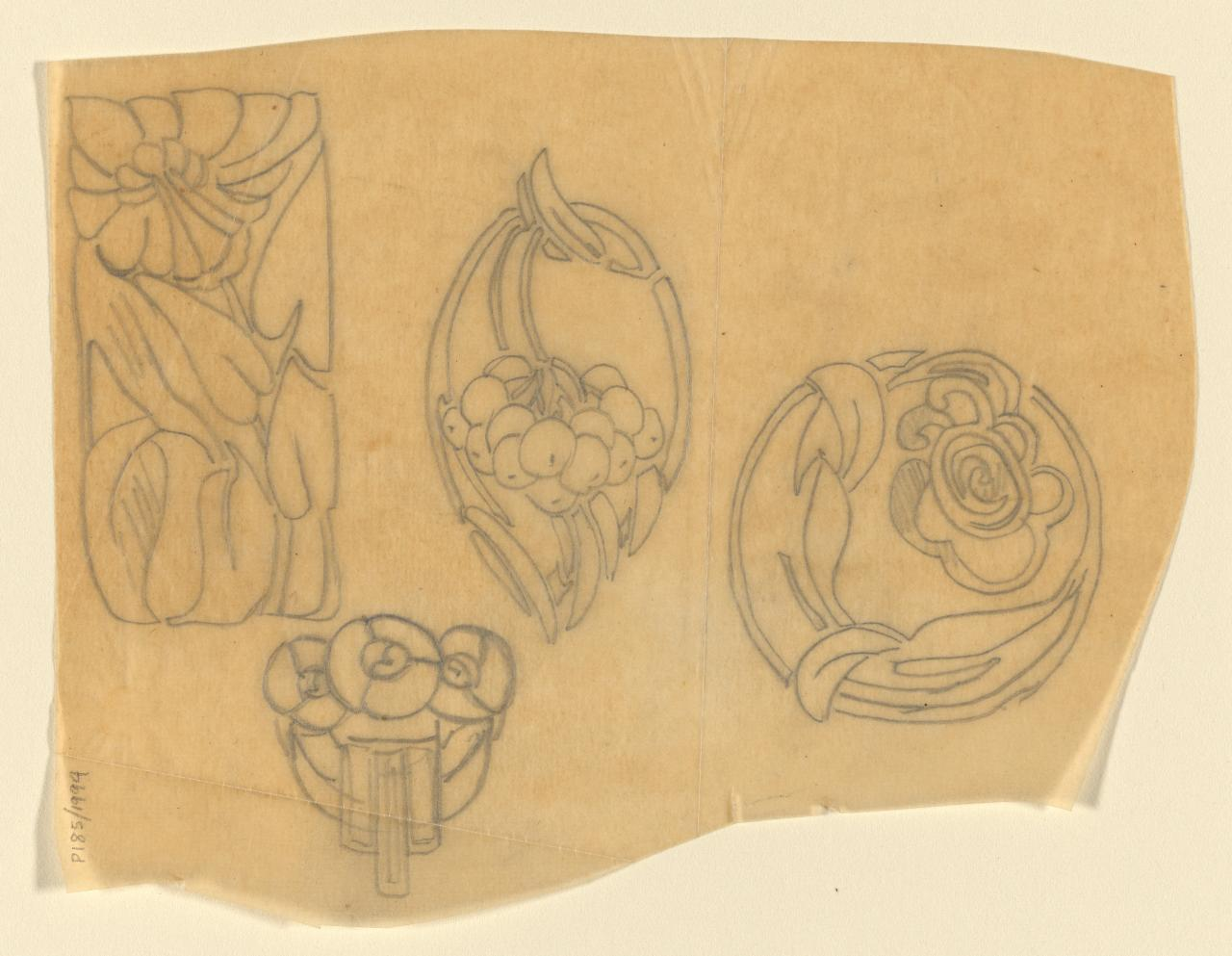 Designs for, or tracings of jewellery