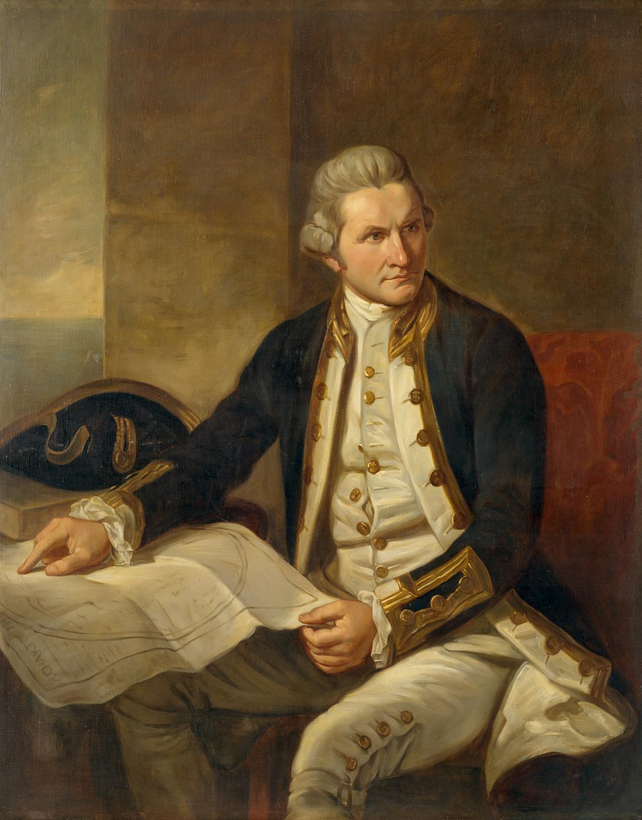 Captain James Cook (copy of Nathaniel Dance original in the Greenwich Hospital)