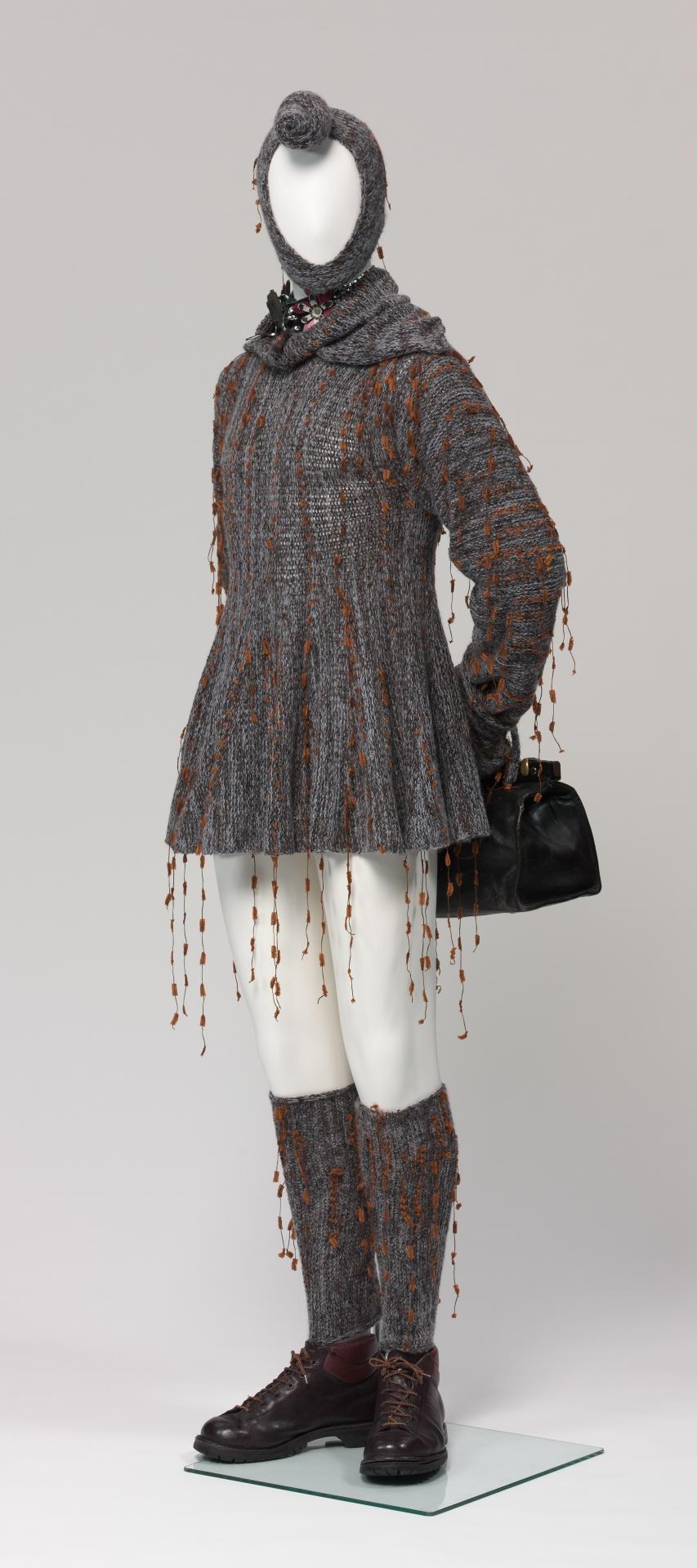 9bb108c74c7f Nordic salesman in swing dress wearing showgirl choker