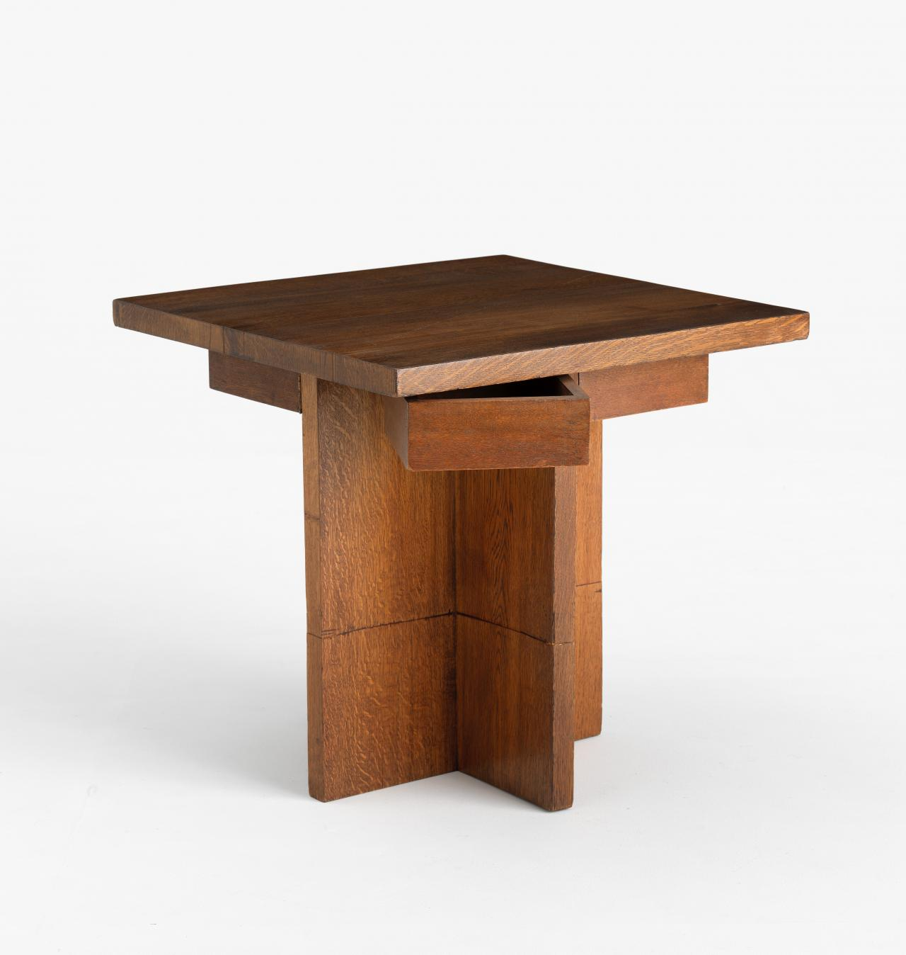 Suite of furniture from Newman College, University of Melbourne: occasional table (reassembled)