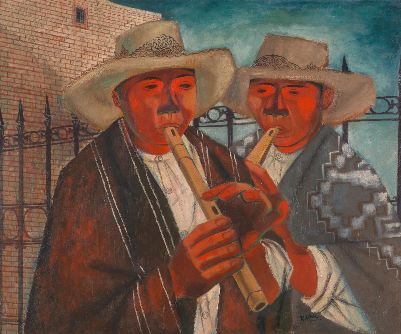 The mariachis (Street singers)