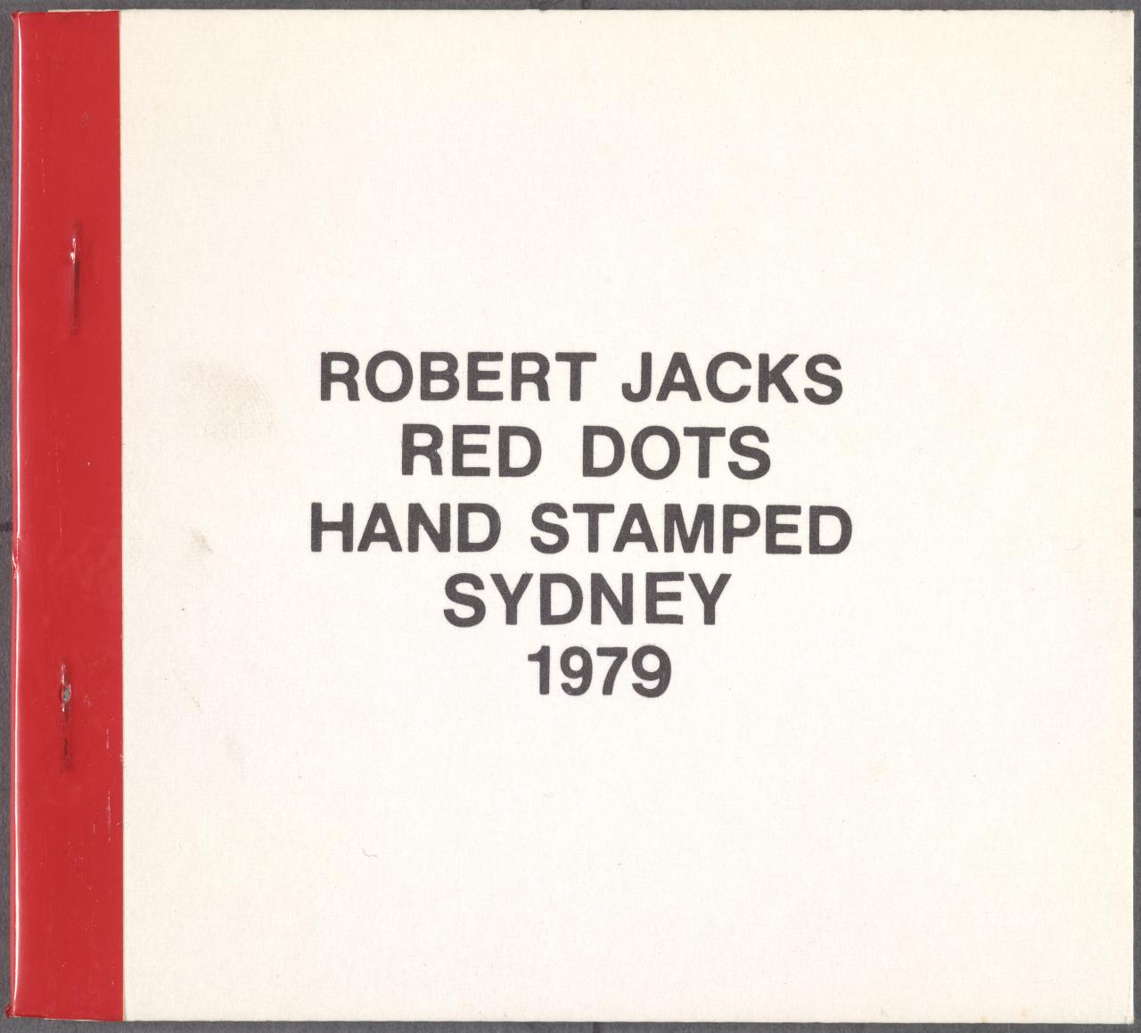 Red dots hand stamped Sydney 1979