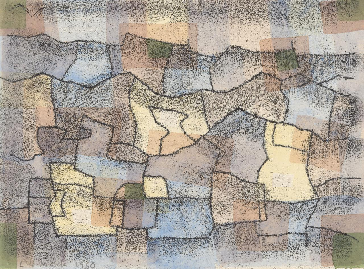 Untitled (Blue, yellow, mauve and green patchwork)