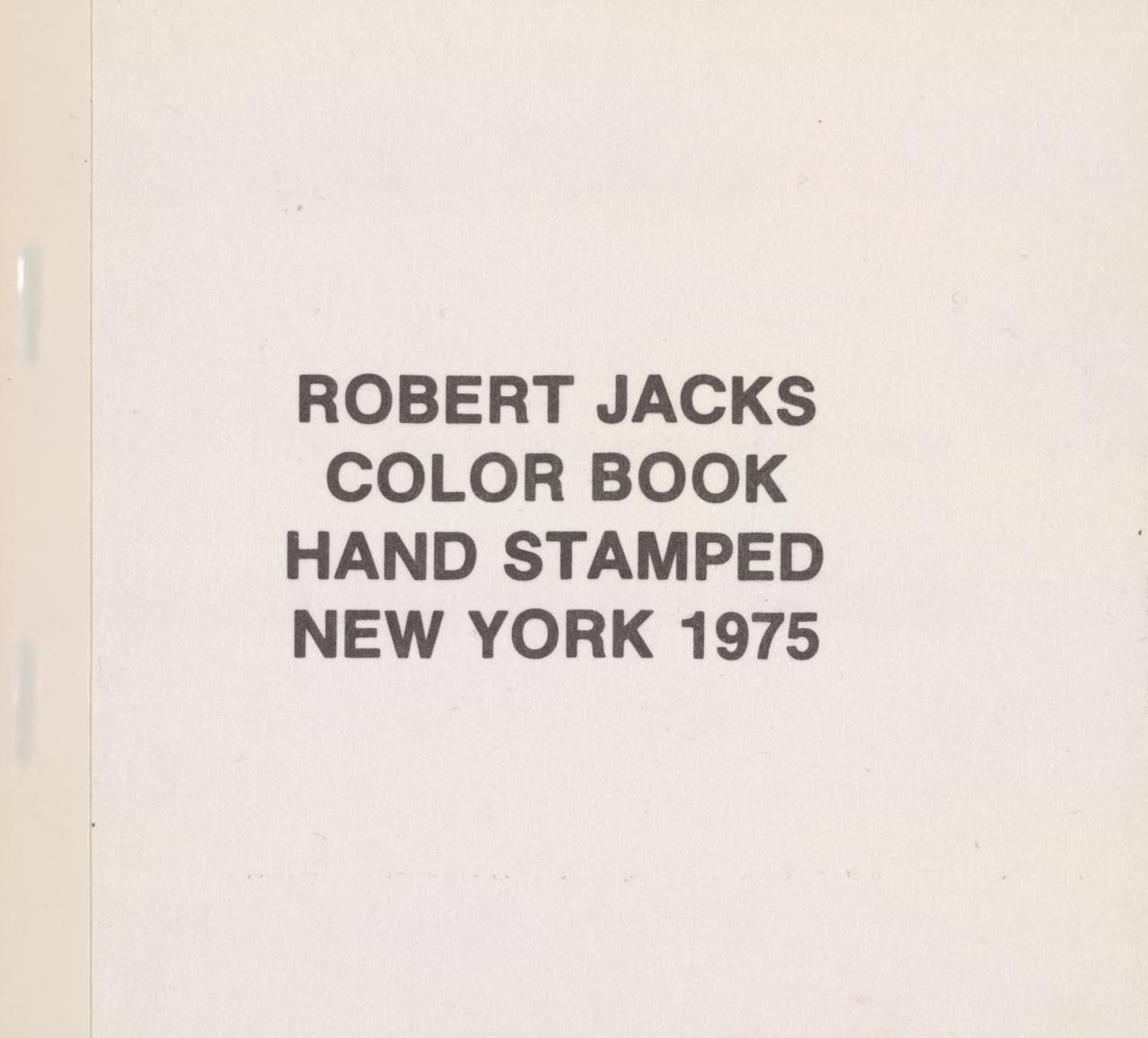 Color book hand stamped New York 1975