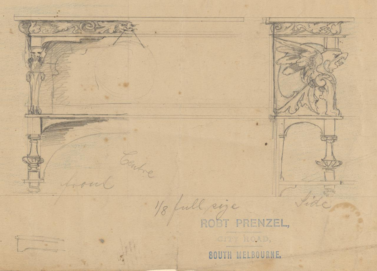Design for a dinner wagon for Robert Camm Esq.