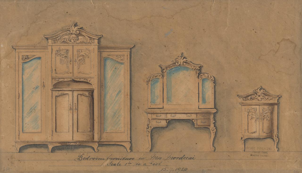 Bedroom furniture of Mrs Mordecai