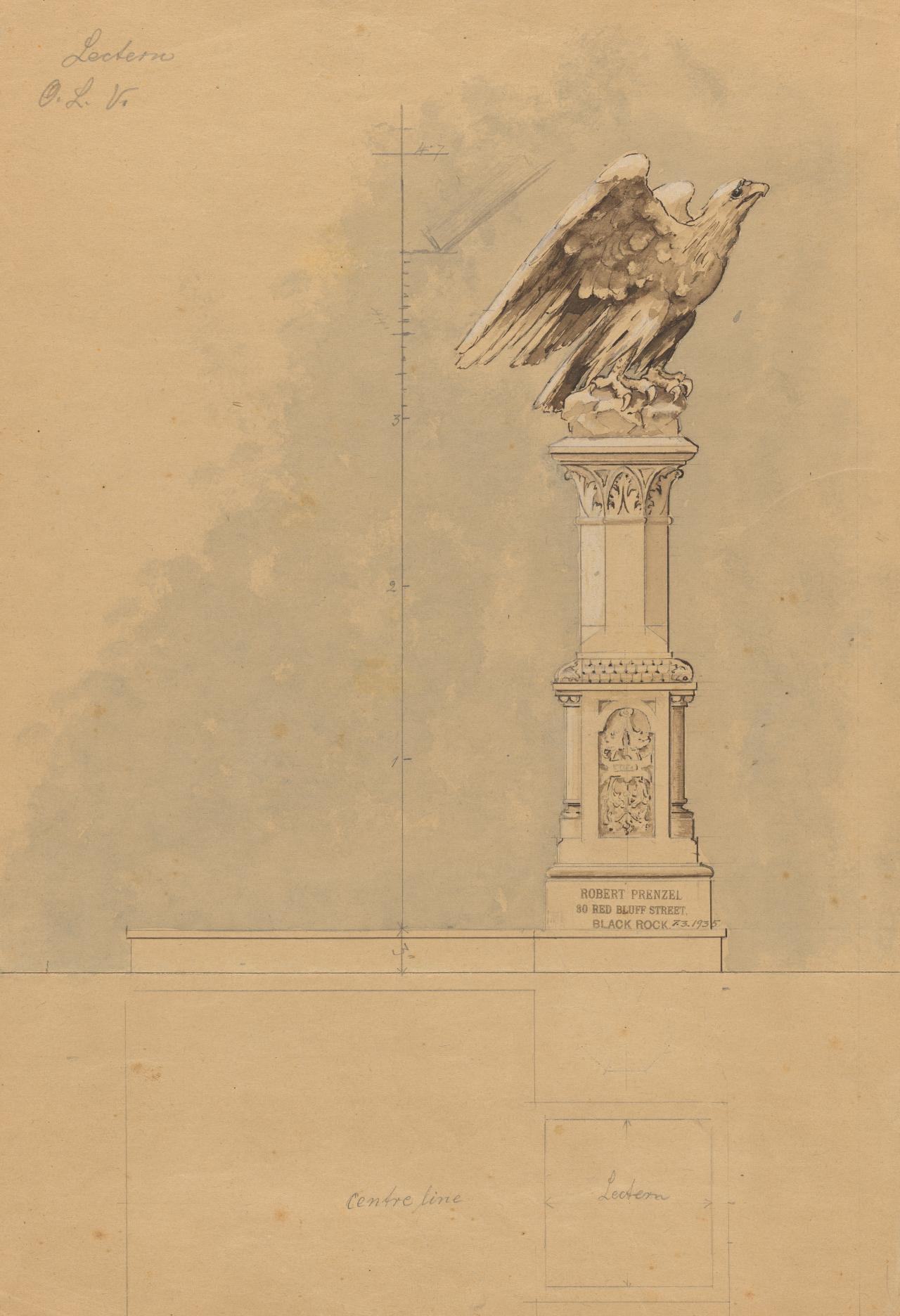 Design for an eagle lectern