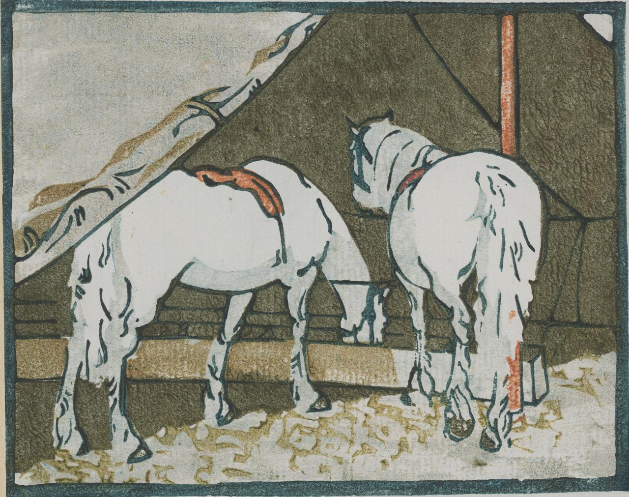 (Untitled) (Two horses in circus tent)