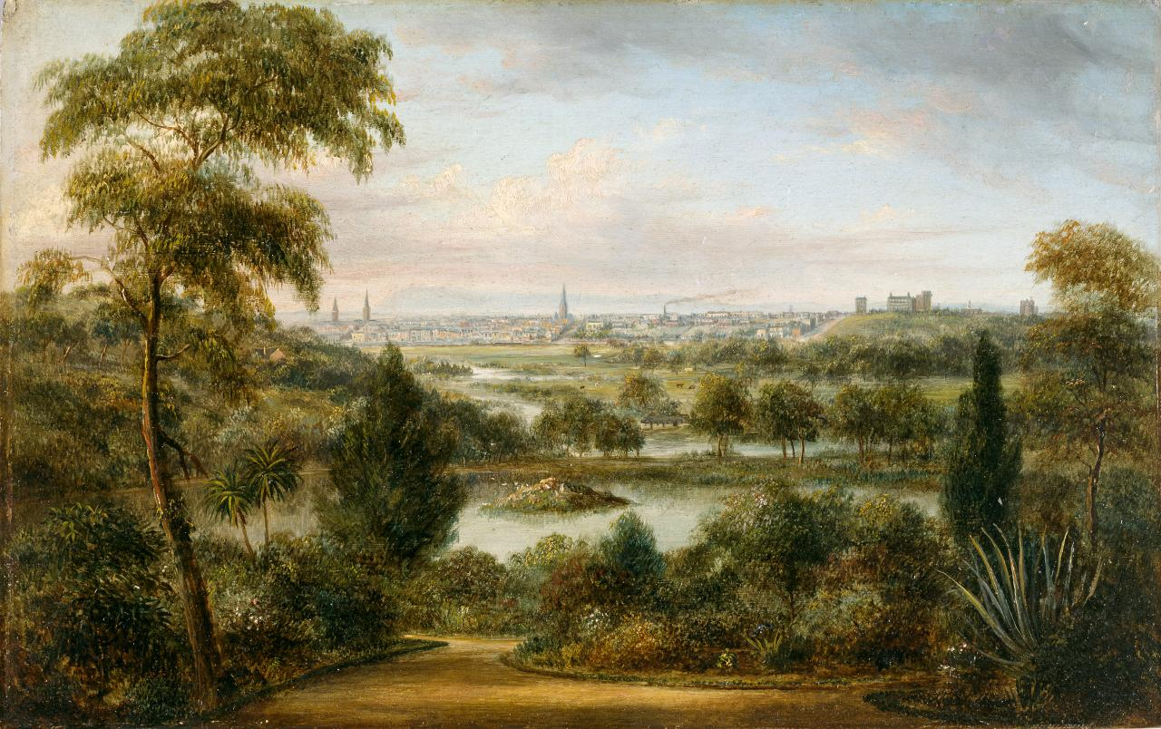 View of Melbourne, Victoria, from the Botanic Gardens