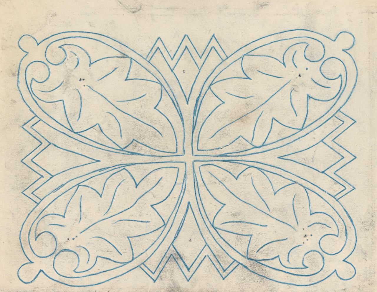 Small template for a panel (leaf motif from St. Mark's, Venice)