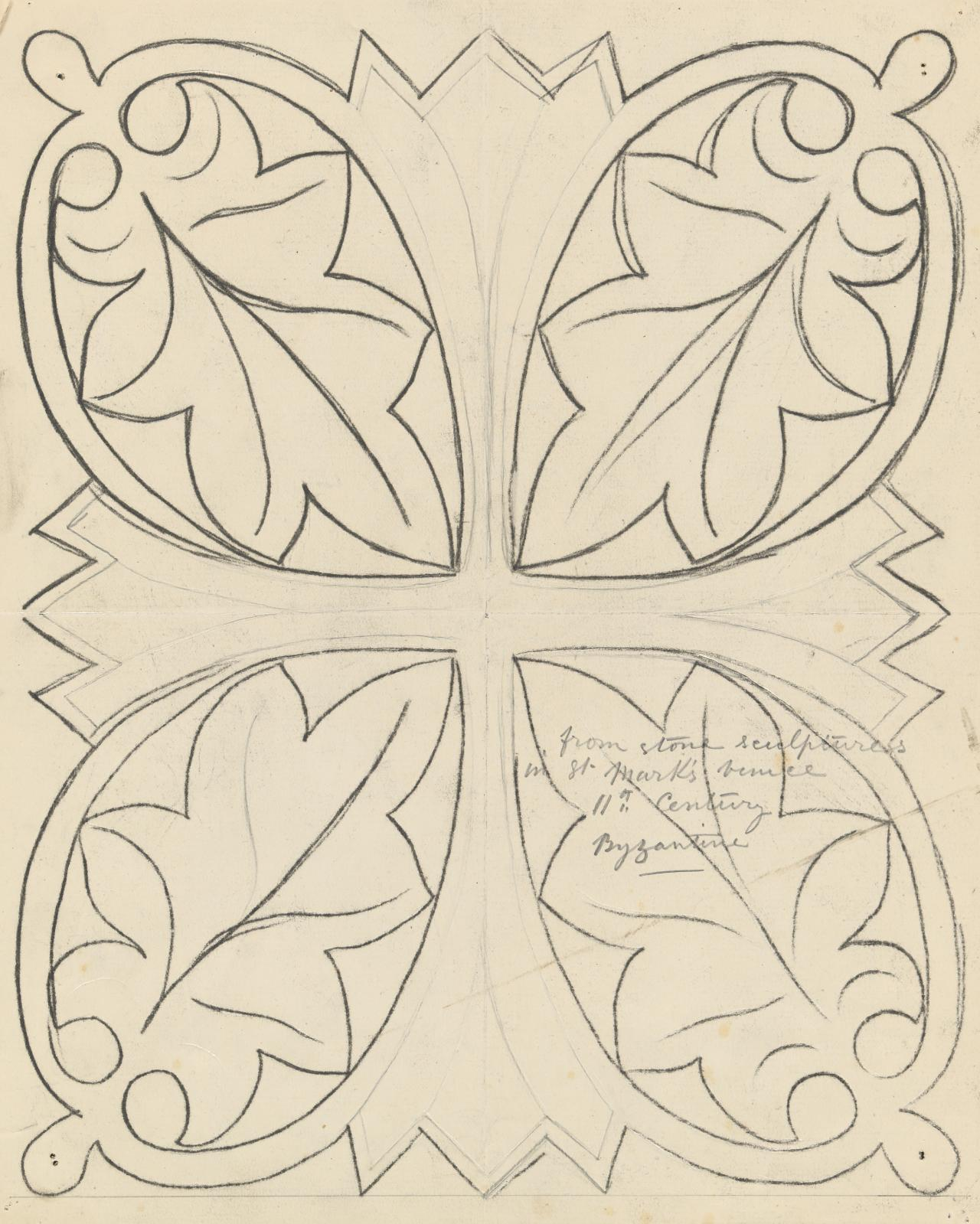Template for a panel (leaf motif from St. Mark's, Venice)