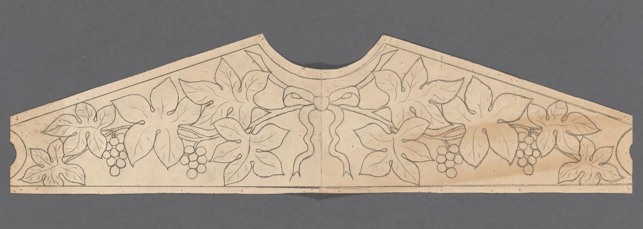 Template for a bookcase pediment
