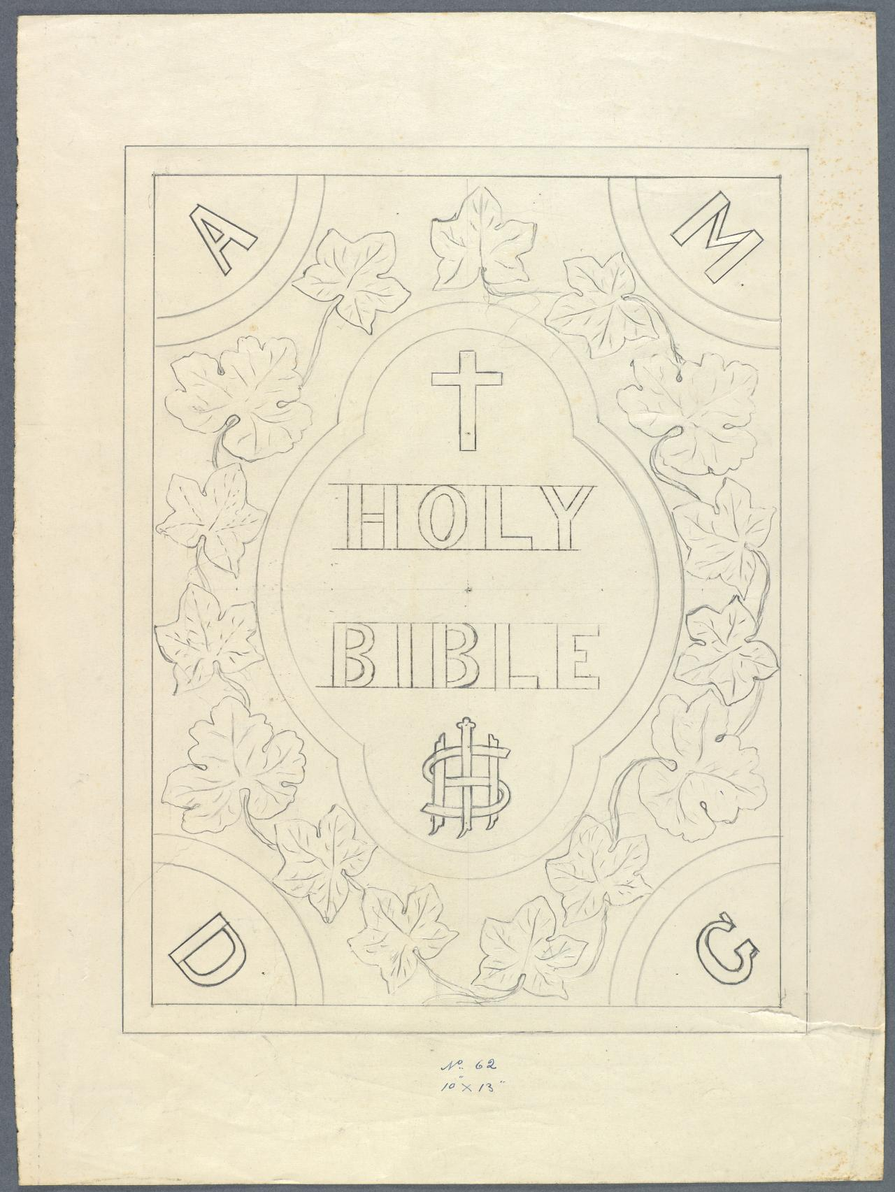 Template for a Bible cover