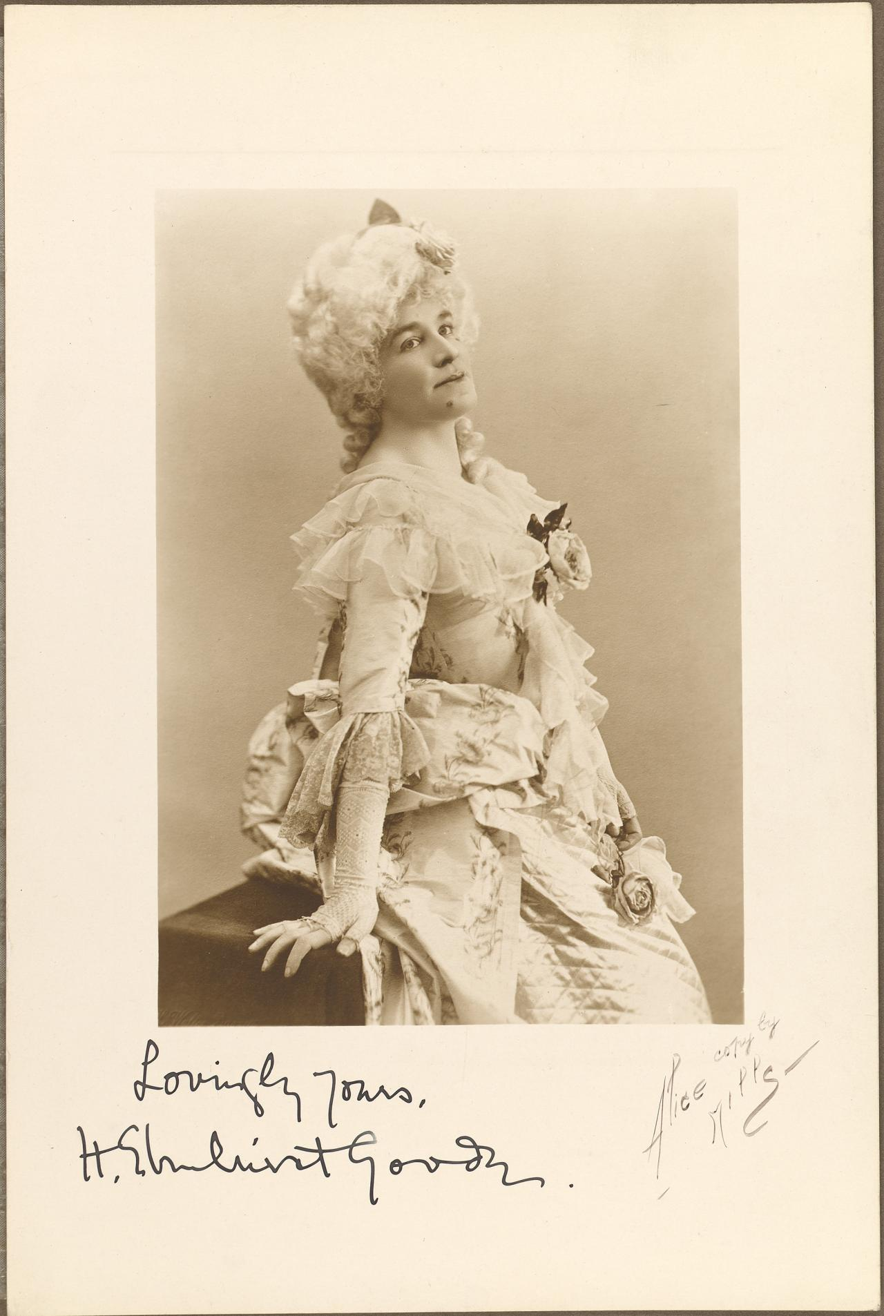 Mme Goode in costume