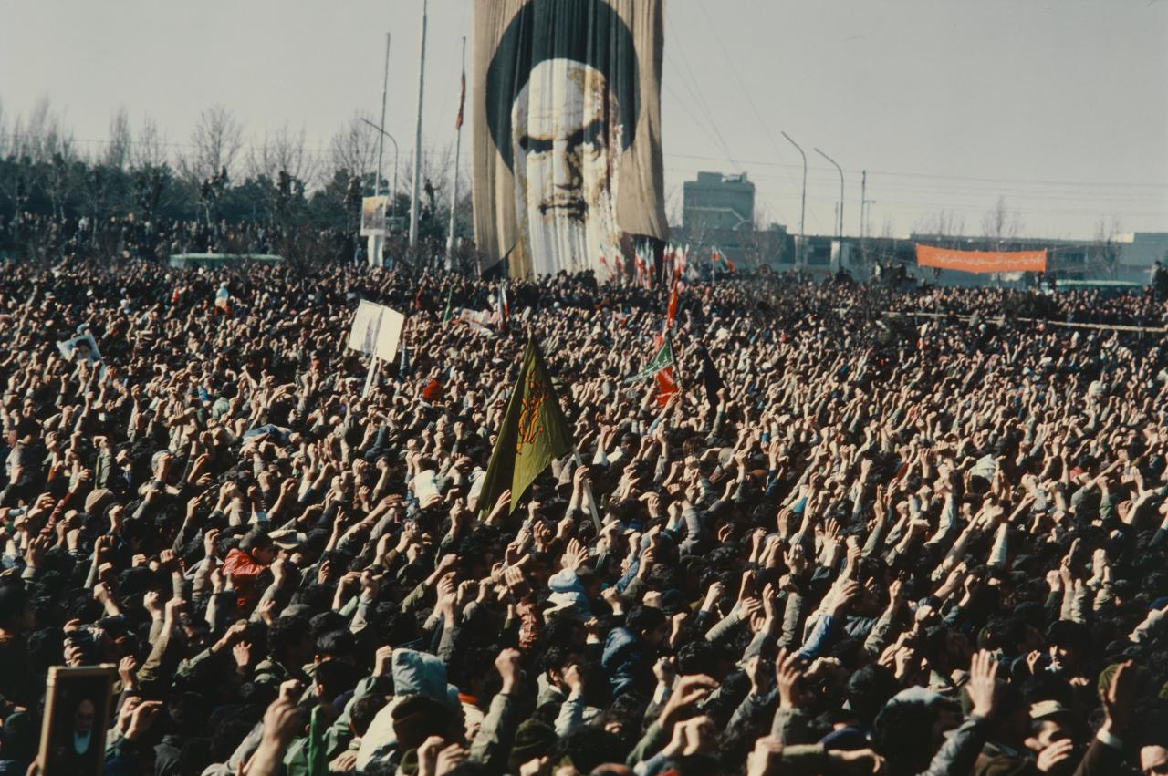 A crowd reported to be 750,000 strong gather in Freedom Square, central Tehran, screaming,