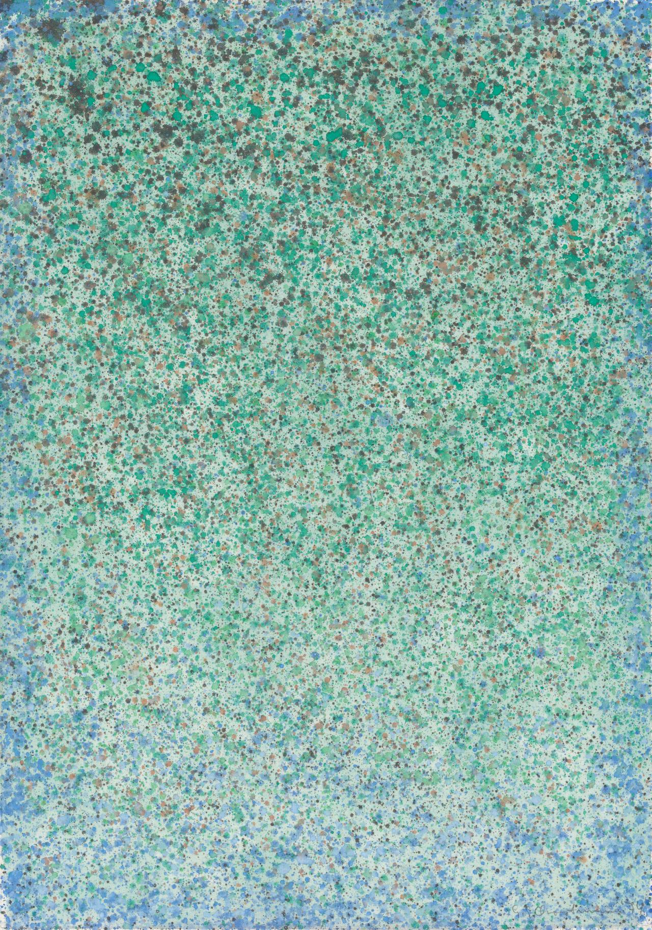 (Untitled) (Blue and green spatter)