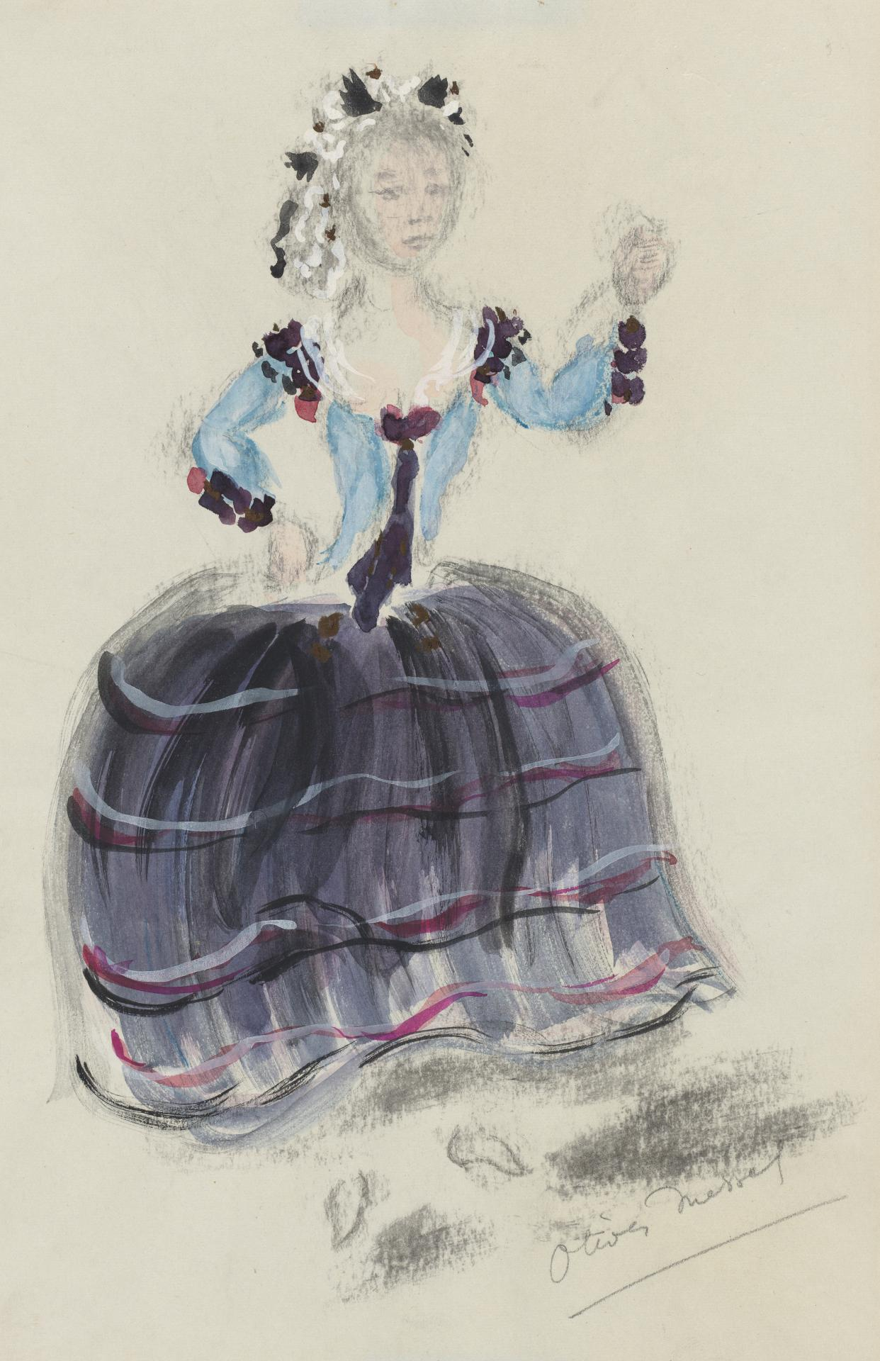 Costume design for a female character