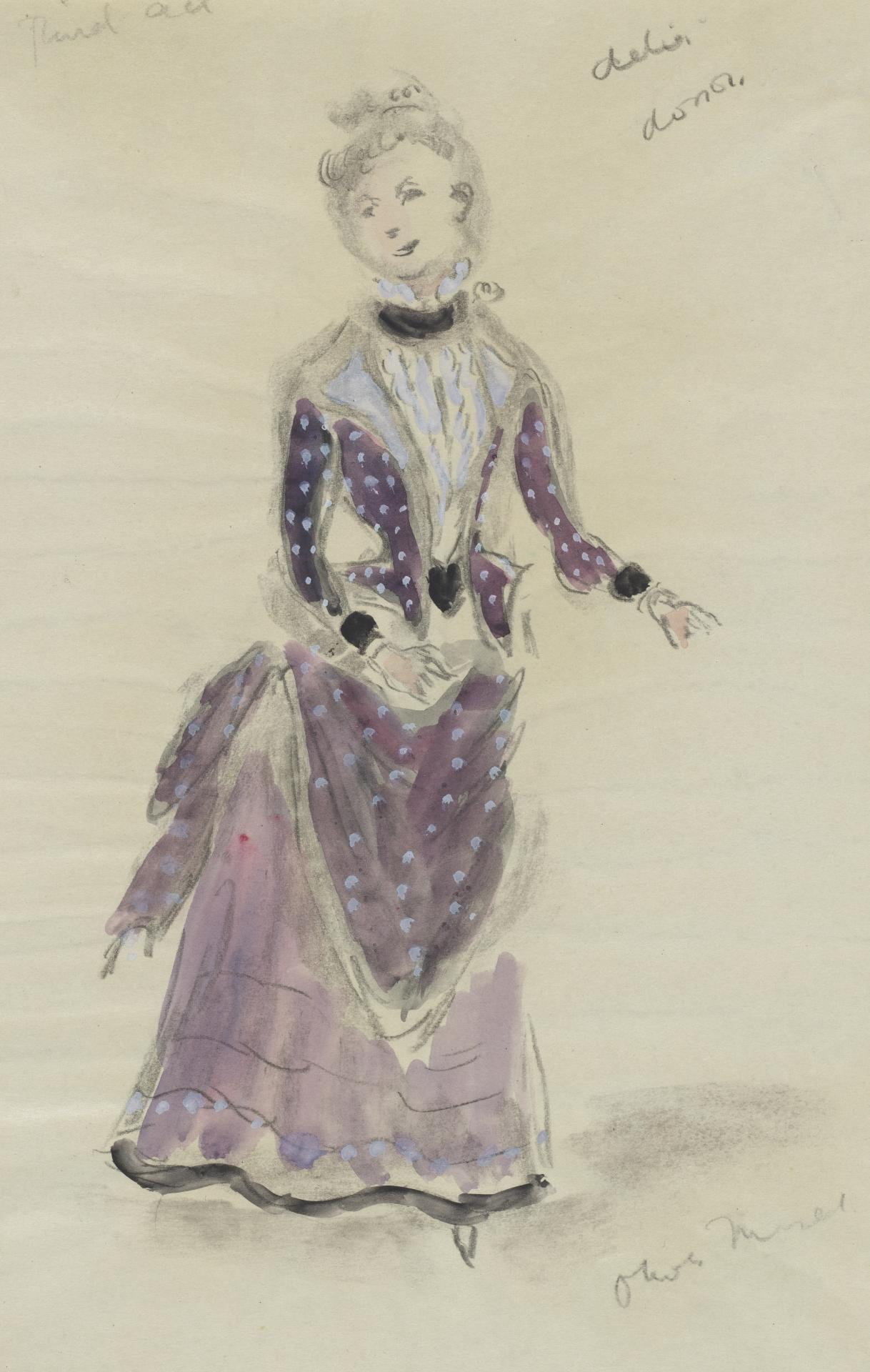 Costume design for the actress Delia Dosson