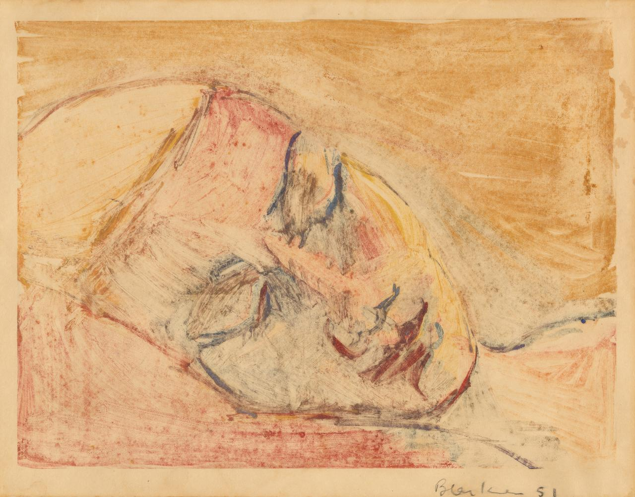 Untitled (Head of a sleeping woman)