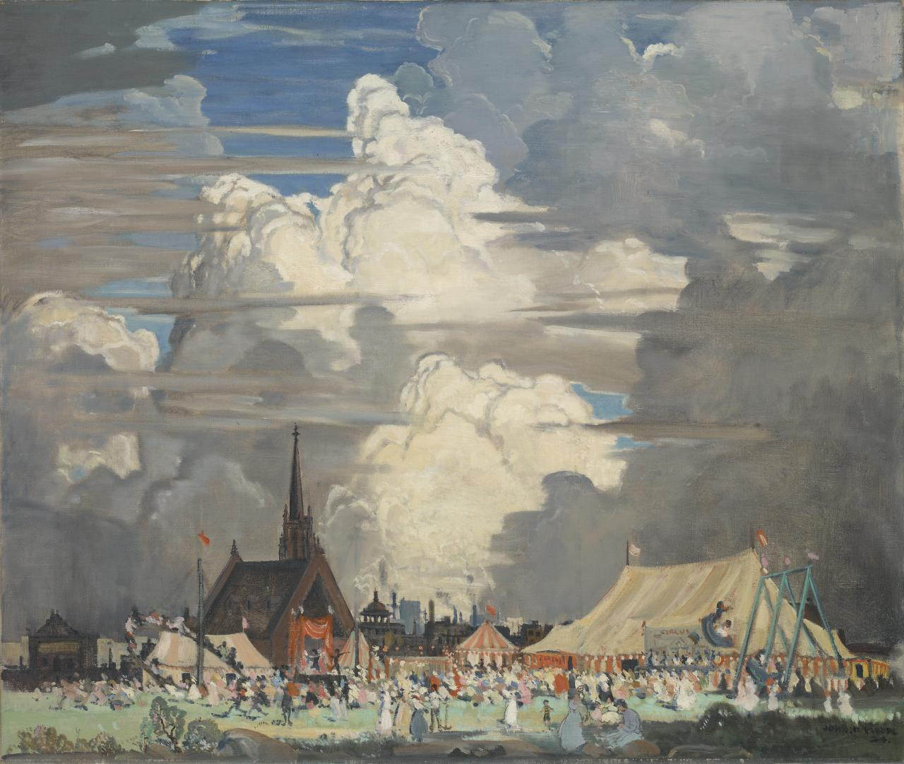 Contrasts: provincial fair and buildings