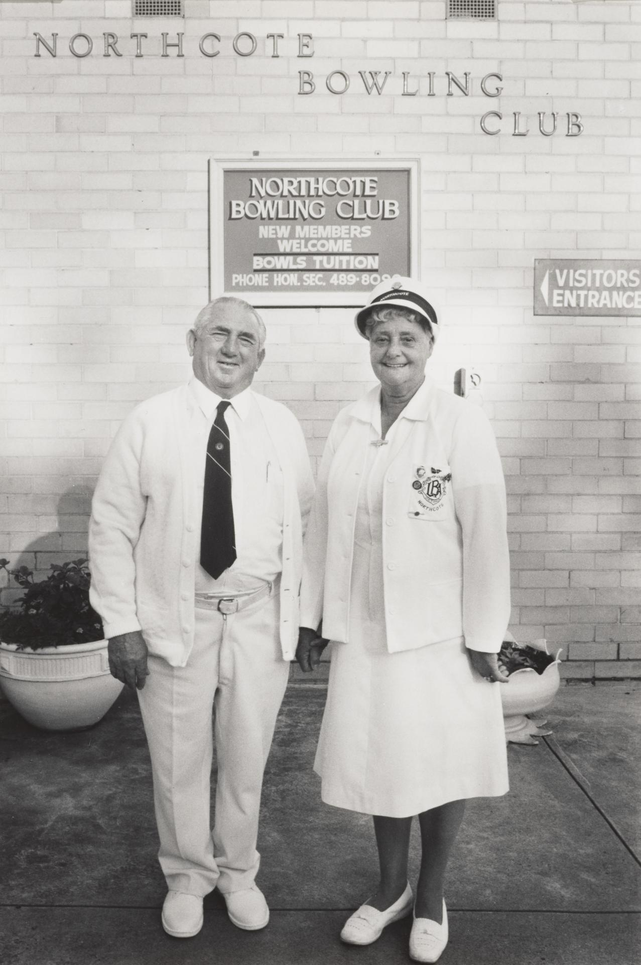 Lillian and Geoff Godwill, members of the Northcote Bowling Club