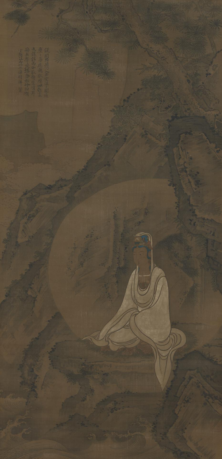 White robed Guanyin in a landscape