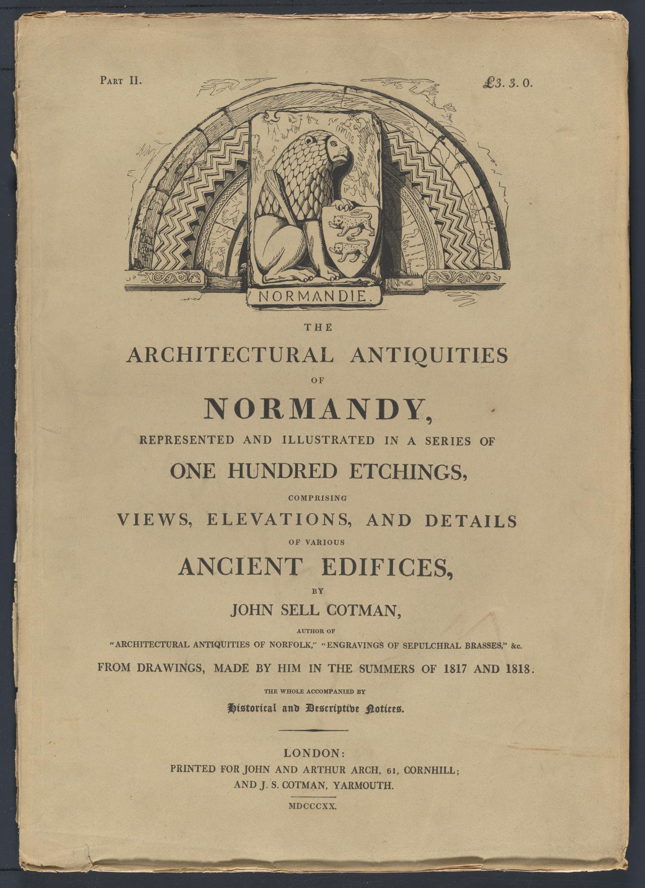 The Architectural Antiquities of Normandy, parts I-IV