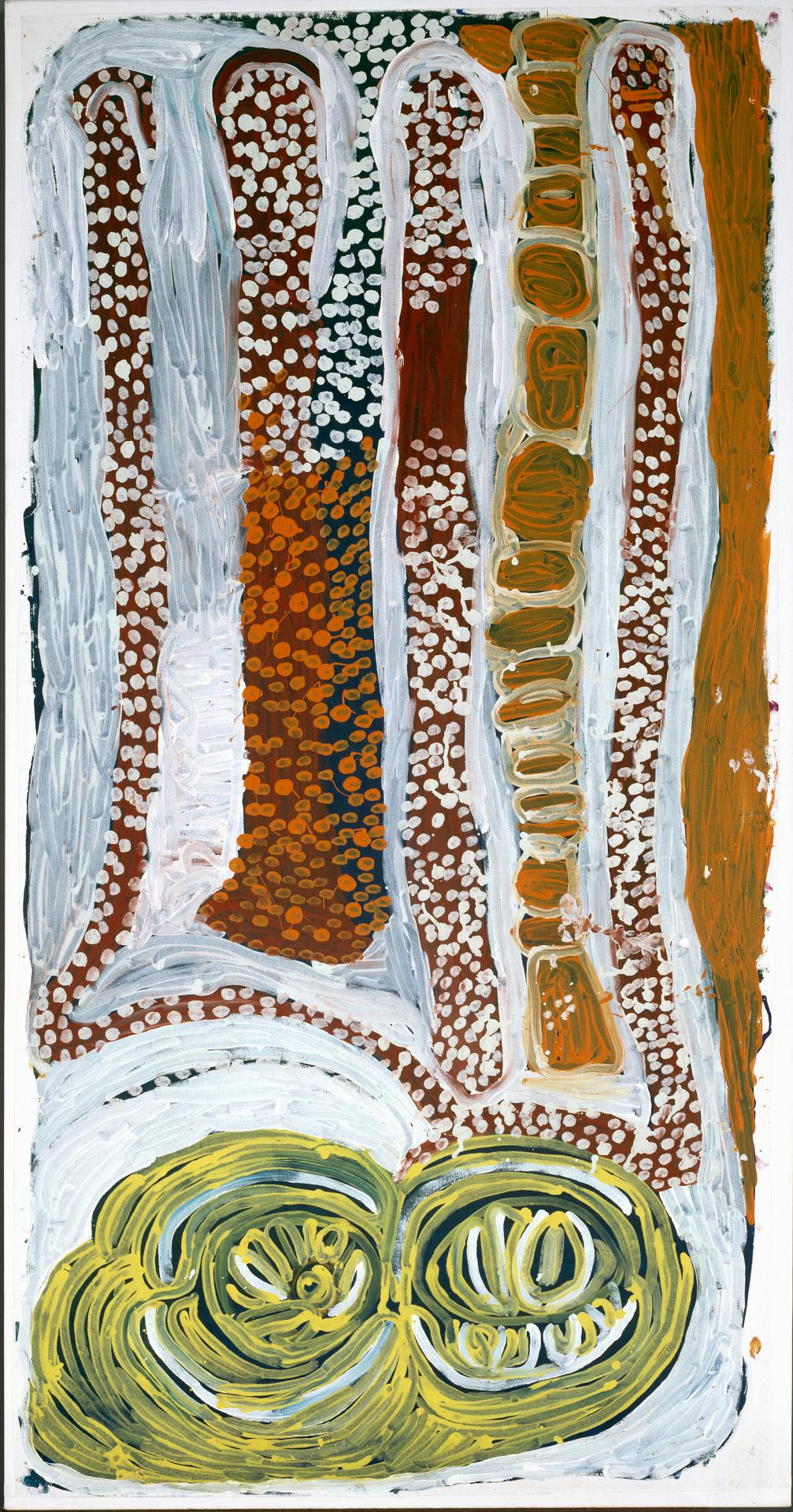 Ngapa, warna manu ngurlu Jukurrpa (Water, snake and seeds Dreaming)