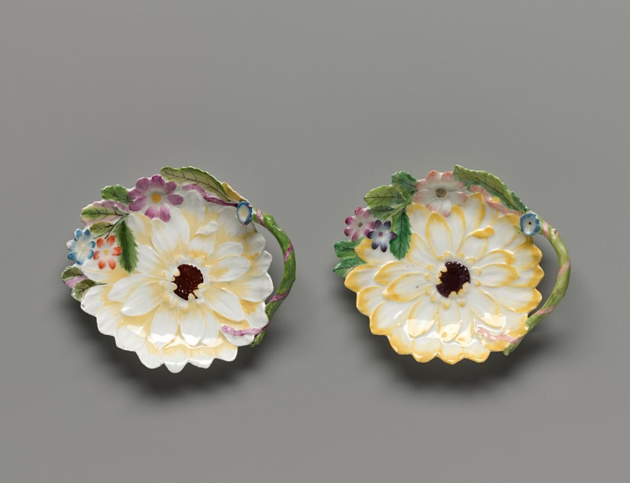 Pair of sunflower plates