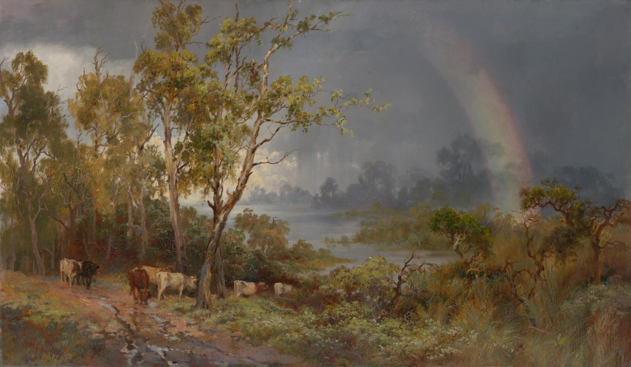 (Landscape with rainbow)
