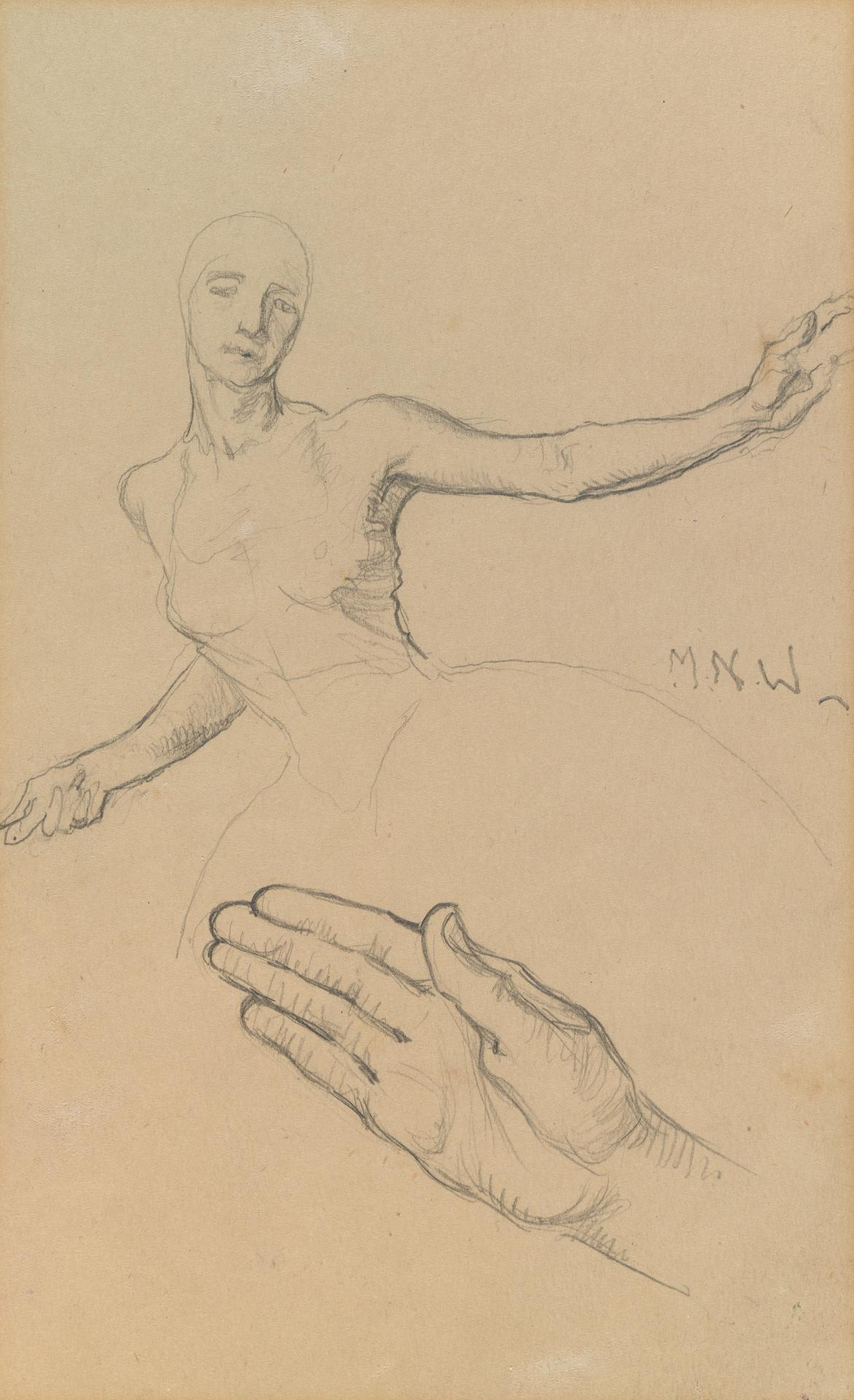 Study for the Myer Murals (Ballerina and hand)