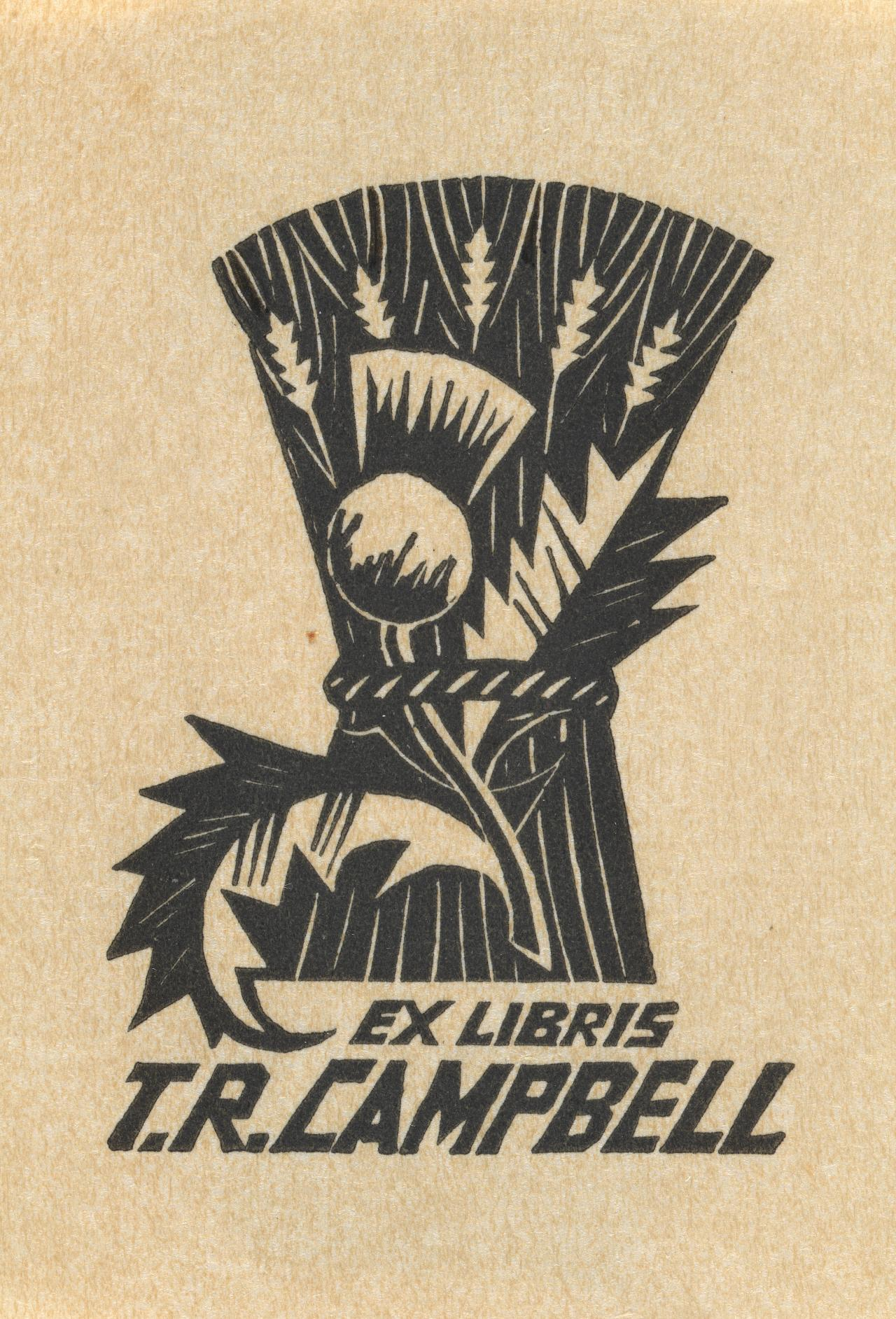Bookplate: T. R. Campbell (Sheaf of barley)