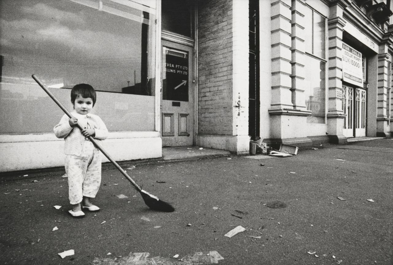 No title (Child and broom)