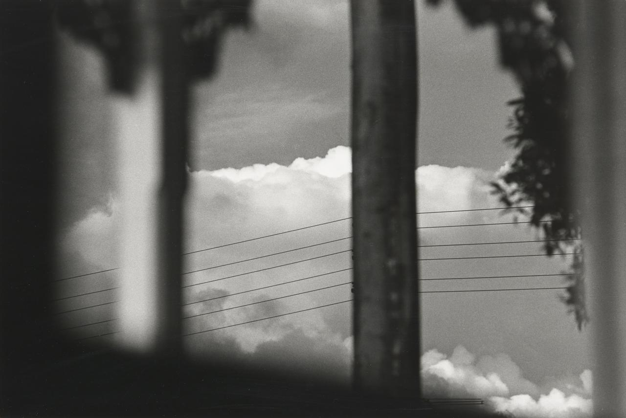 No title (View of telegraph wires and clouds)