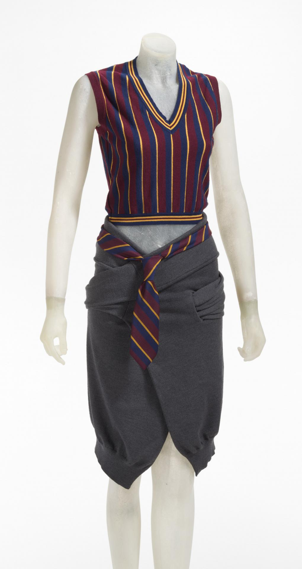 Vest, skirt and tie