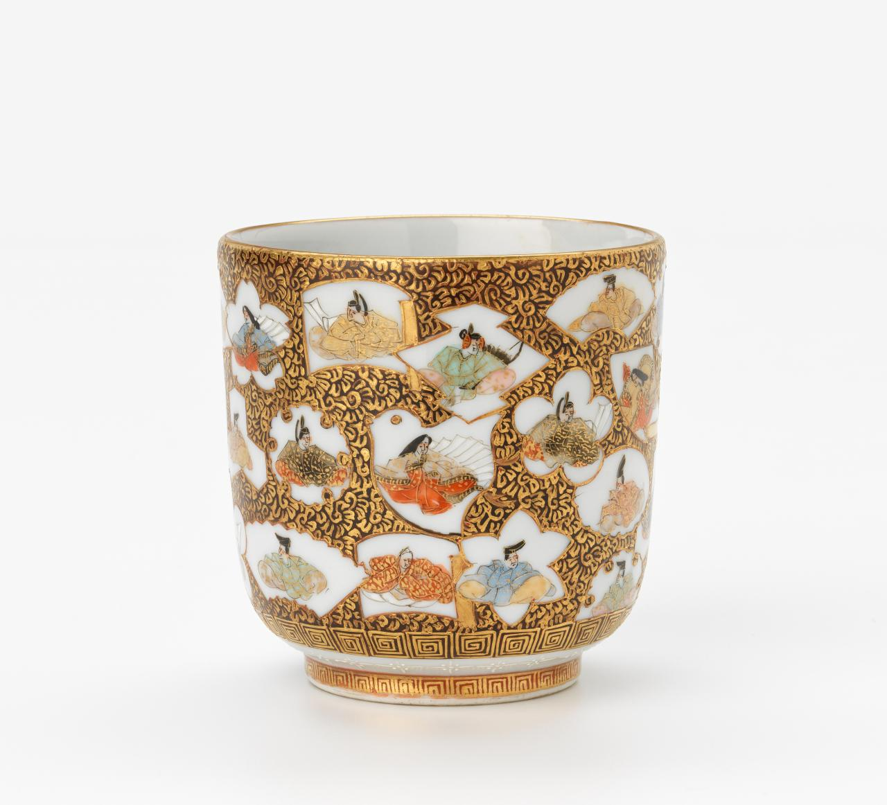 Cup with thirty-six immortal poets design