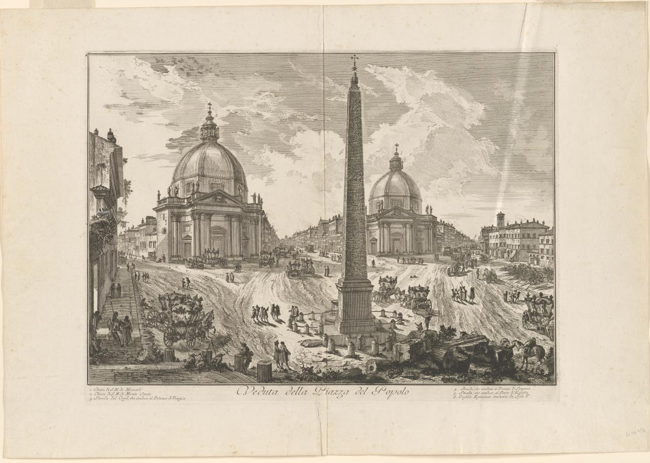 View of the Piazza del Popolo