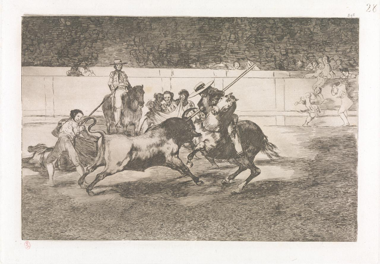 The forceful Rendon stabs a bull with the pique, from which pass he died in the ring at Madrid